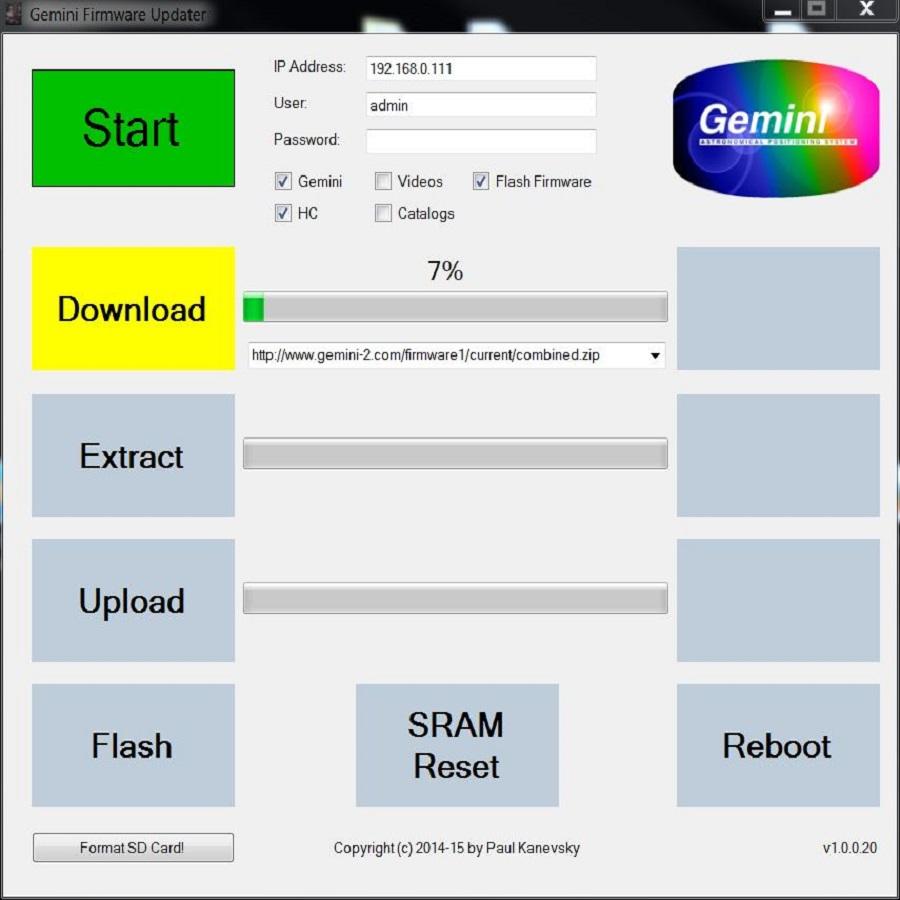 Gemini 2 Firmware Updater